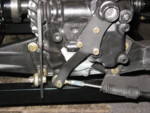 The finished rear shift mechanism